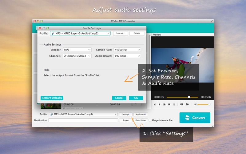 4Video MP3 Converter (音频转换)