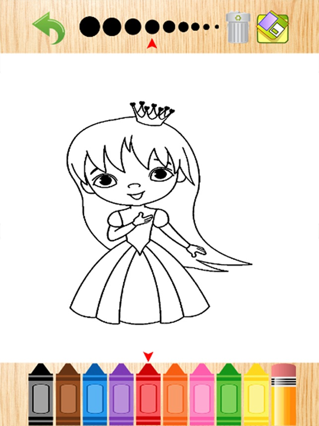 Prinzessin Kinder Färbung - Lernspiel für Kinder im Vorschulalter im ...