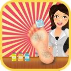 médico de la clínica del pie - los niños el cuidado de la salud del pie en el pequeño hospital dr icon