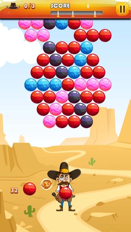 Bubble Shooter Cowboy : Classic Bubble Match 3 Game For Free screenshot-4