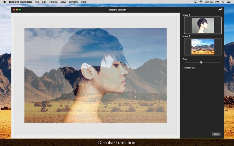 Dissolve Transition: Image blend effect screenshot 3