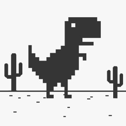 T-Rex Steve Widget Web Game - The offline Dinosaur in internet Browse