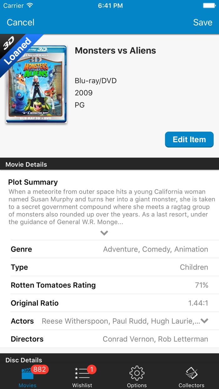 Movie Database: Blu-ray 4K DVD Screenshot