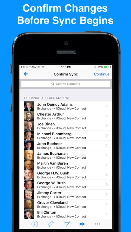 Contact Mover & Account Sync for Exchange, Outlook, iCloud, Gmail, Facebook, & Yahoo Email app image