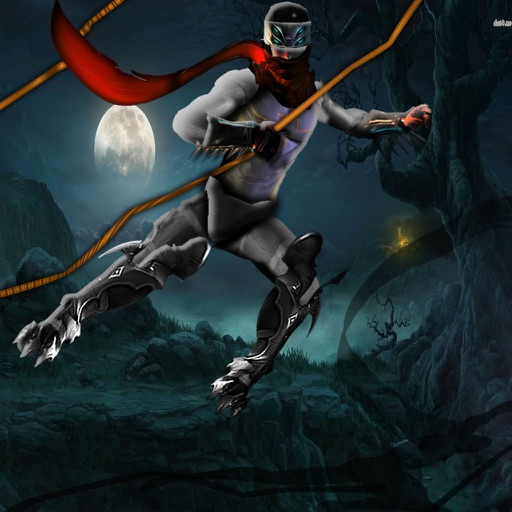 Rope Superhero - Run and Fly on the Night Style