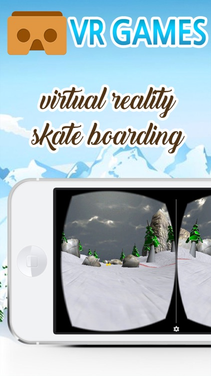 Virtual Reality Snowboarding game for Google cardboard
