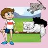 動物の子供向けゲーム:赤ちゃん猫、小さい子供の場合キティアプリ:着色書籍&パズル