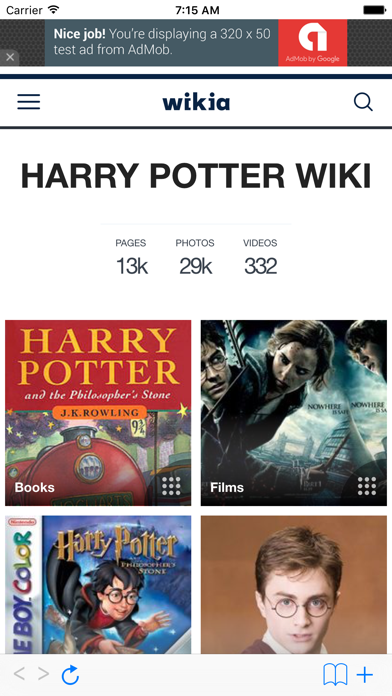 messages.download Wiki for Harry Potter software