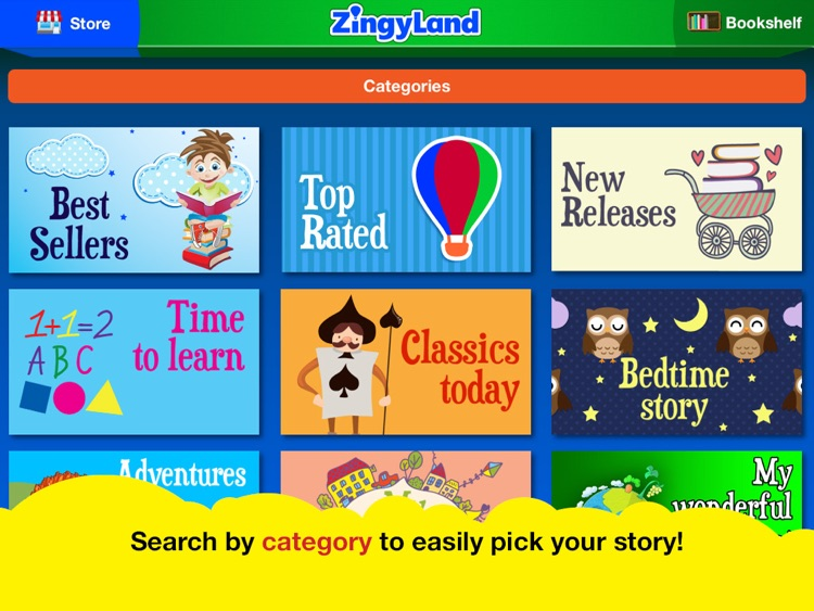 ZingyLand app - Safe Tales and Games for kids