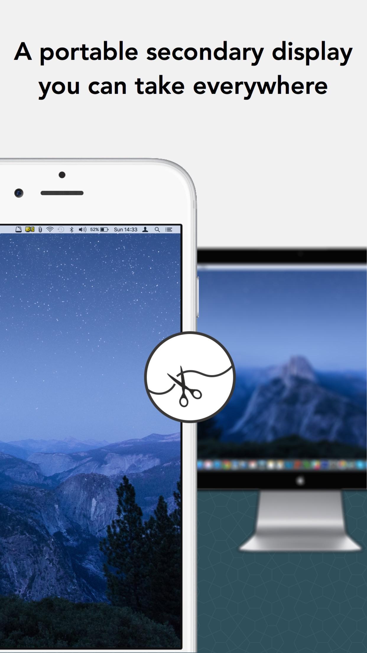 Screenshot do app iDisplay