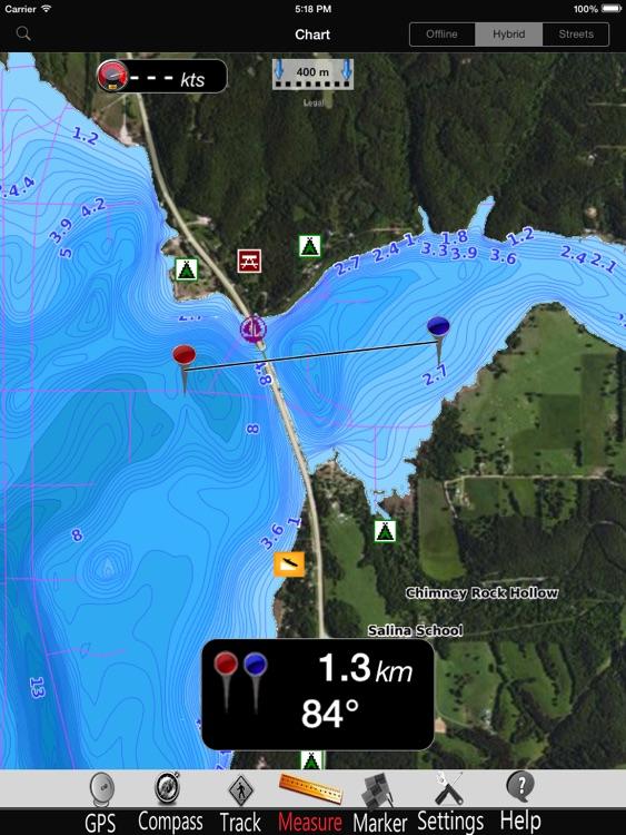 Hudson lake Nautical Chart Pro