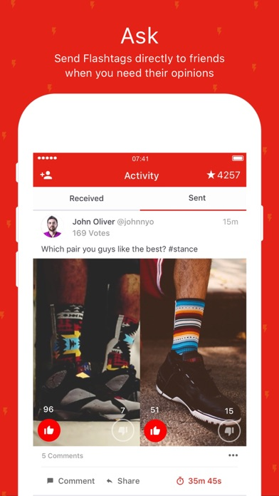 Flashtag - Get quick opinions screenshot two