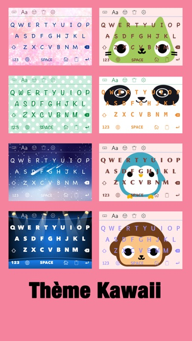 Screenshot for New Cool Text Pro ∞ Thèmes pour clavier, de nouveaux emojis, émoticônes  & polices for instagram in Lebanon App Store