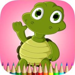çocuklar Için Kaplumbağa Boyama Kitabı Renk öğrenin Ve Deniz