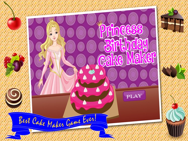 Princess Birthday Cake Maker Cooking Game