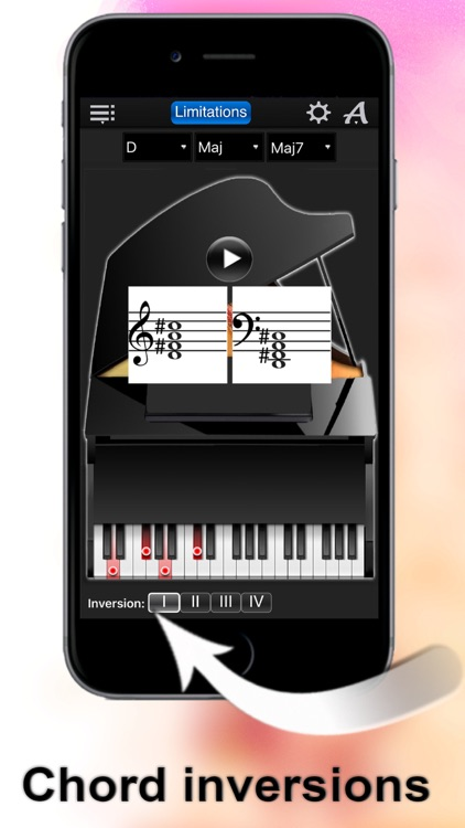Piano Chords Compass Lite - learn the chord notes & play them