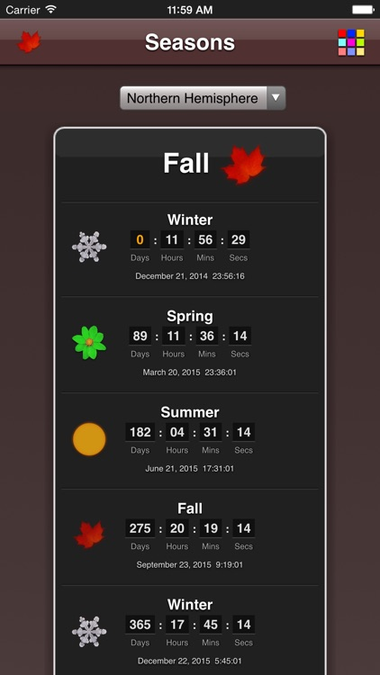 Seasons App screenshot-3