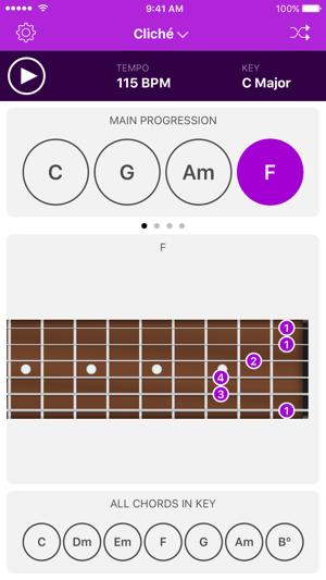 Autochords Chord Progression Generator For Guitar Keyboard And