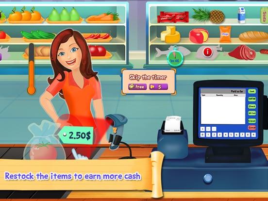 Супермаркет кассовый аппарат SIM- Дети образовательный торговые центры и управление временем весело игры для iPad