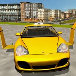 Flying Taxi Car Driver 3D Simulator