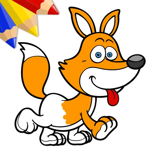 Funny Animals - Coloring Book for Little Boys, Little Girls and Kids - Free Game