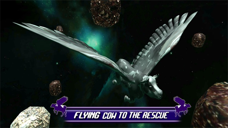 Flying Cow Rescue Galaxy Game : The Super Cow Flying Simulator Game of 2016 screenshot-4