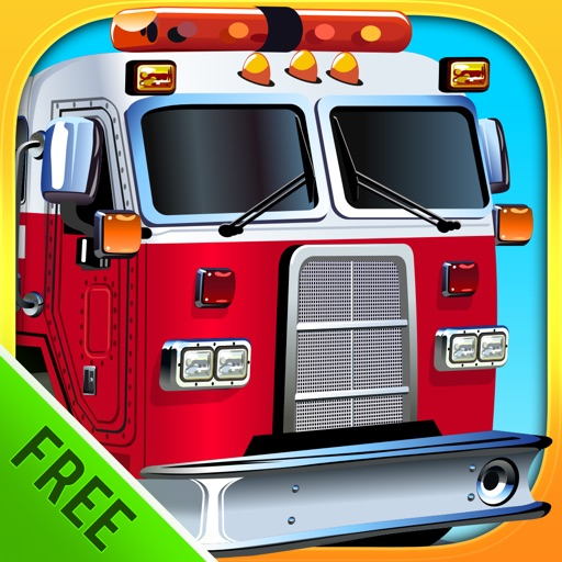 Fire Engines and other Trucks : puzzle game for little boys and preschool kids : Free