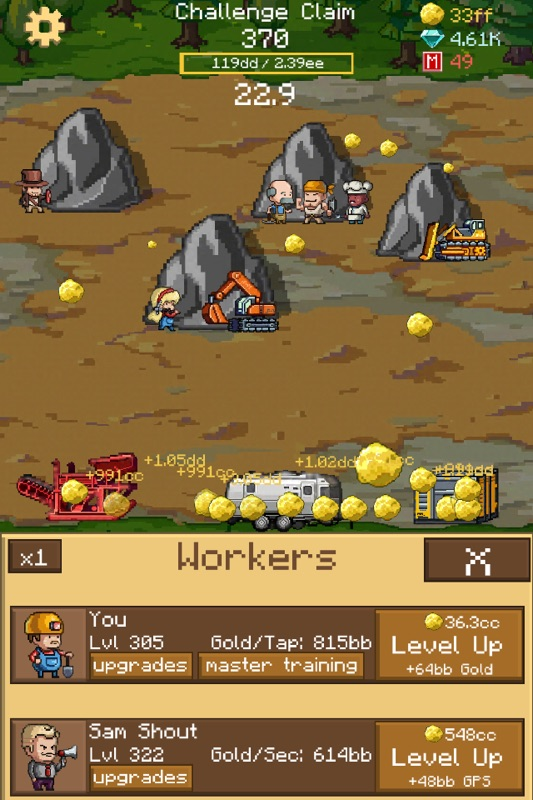 Goldcraft - Idle Games, Clicker Games - Online Game Hack and