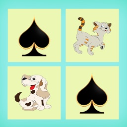 The Best Photo Matching Card Game Cat & Dog for Kids and Toddlers Puzzle Logic Free