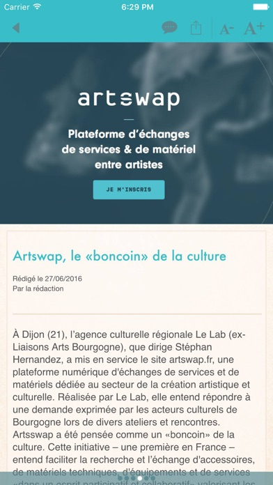 La Scène Screenshot on iOS