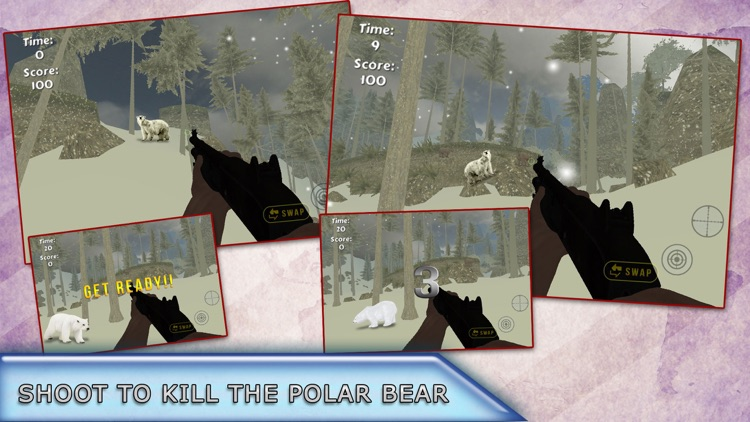 Polar Bear Attack Hunter 2016 - Shoot to Kill Artick Wild Animal - Survival mission screenshot-3