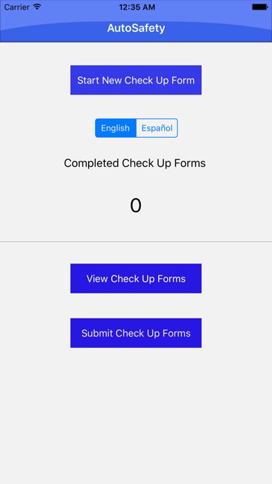 Check-Up Form screenshot one