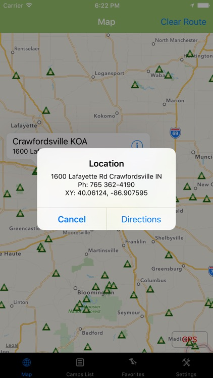 Indiana – Camping & RV spots screenshot-3