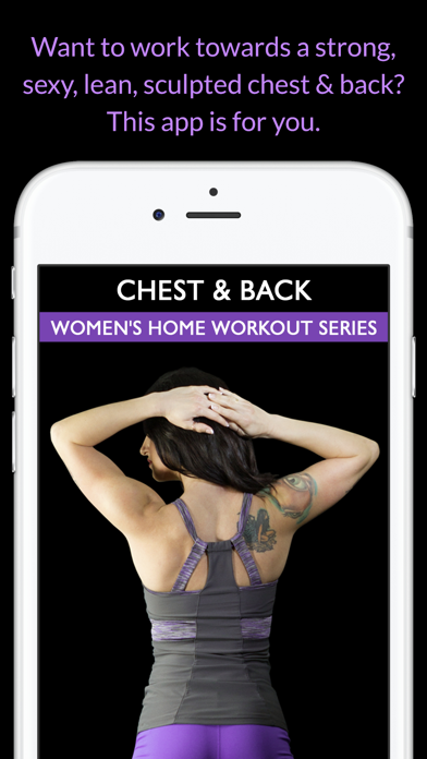 Chest & Back: Women's Home Workout Series screenshot one