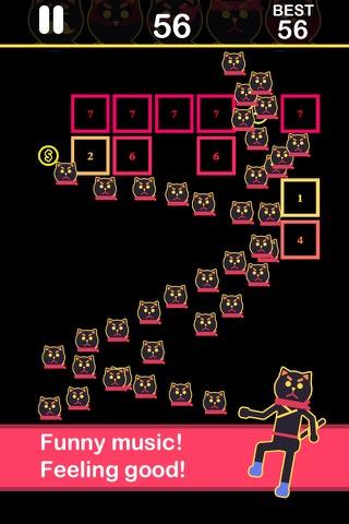 Ballz of ninja cats - shooter games - náhled