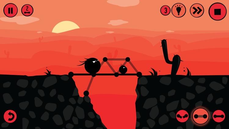Fat Dots Bridge Builder - Two Dots on The Dangerous Journey screenshot-3
