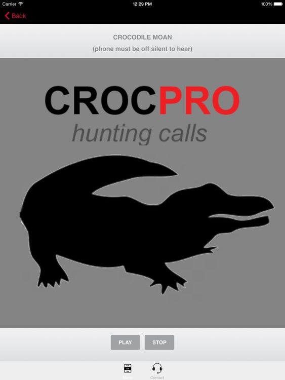 REAL Crocodile Hunting Calls & Crocodile Sounds for Hunting (ad free) BLUETOOTH COMPATIBLE screenshot-0
