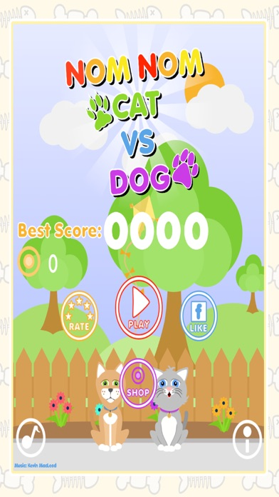 Nom Nom Cat Vs Dog - Feed The Hungry Pets! screenshot four