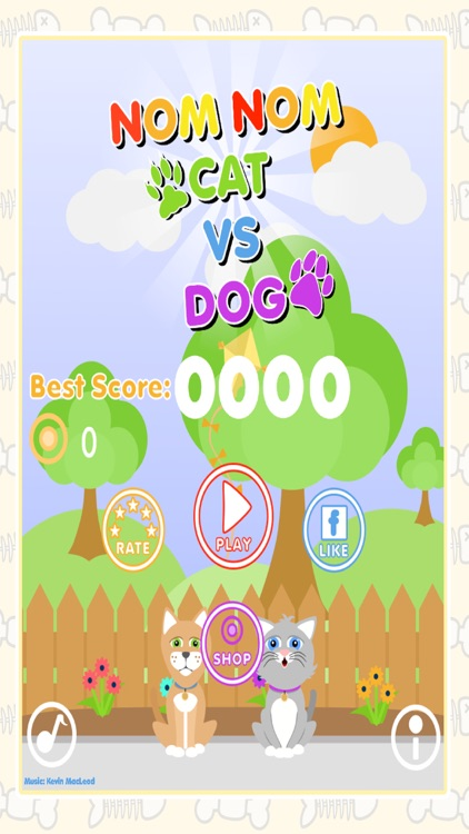 Nom Nom Cat Vs Dog - Feed The Hungry Pets! screenshot-3