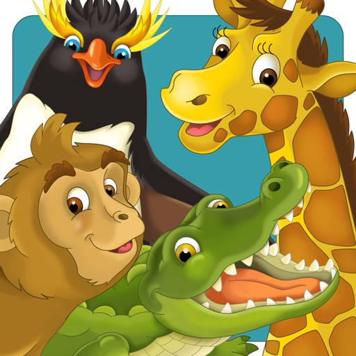 Animal & Zoo Jigsaw Cartoon Puzzle For Kids iOS App