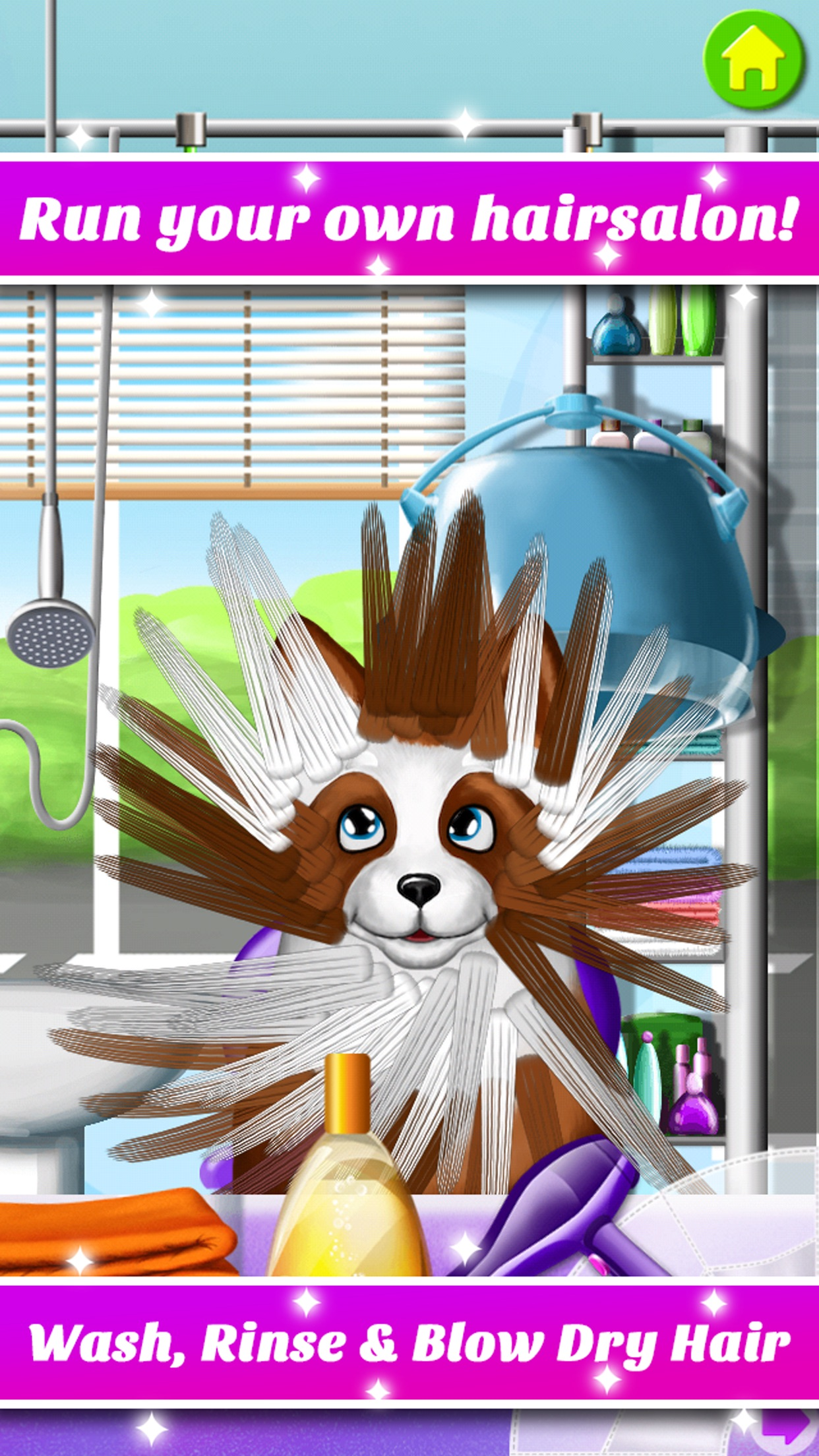 Hair Salon Makeover - Cut, Curl, Color, Style Hair Screenshot