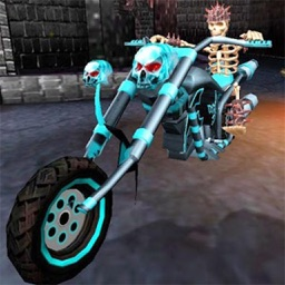 Death Bike Racing 3D. Ghost Rider Motorcycle Race in Skull Hell