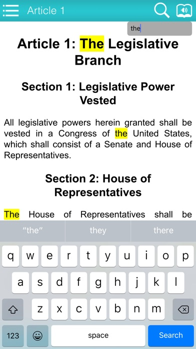 The Constitution Of USA Screenshot