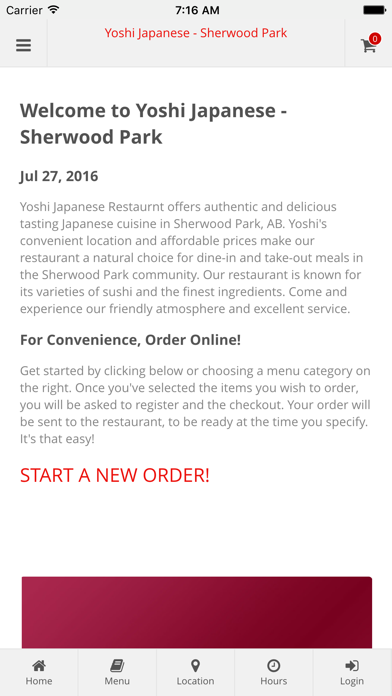 Yoshi Japanese - Sherwood Park Online Ordering screenshot one