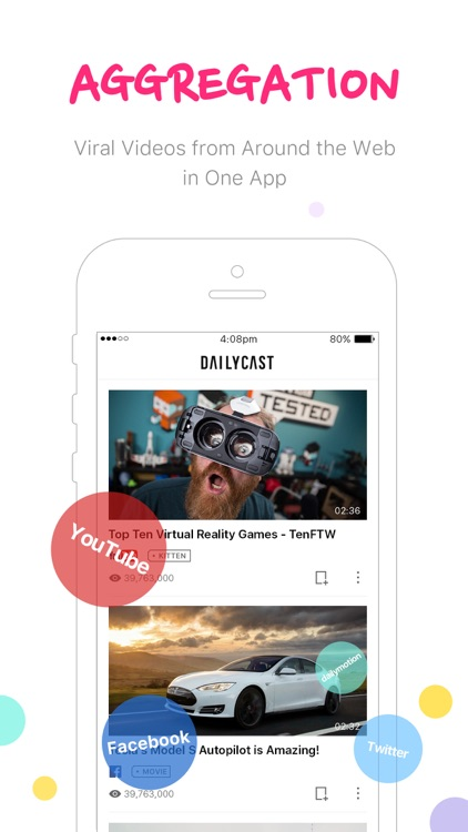 DailyCast - Aggregate Hot New Videos
