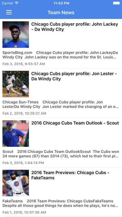 News Surge for Chicago Cubs Baseball Free Edition screenshot-3