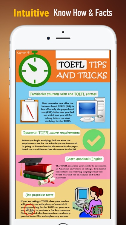 TOEFL Study Guide: Exam Prep Courses with Glossary