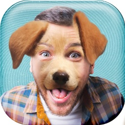 Puppy Face! - Funny Animal Head Stickers Photo Montage free