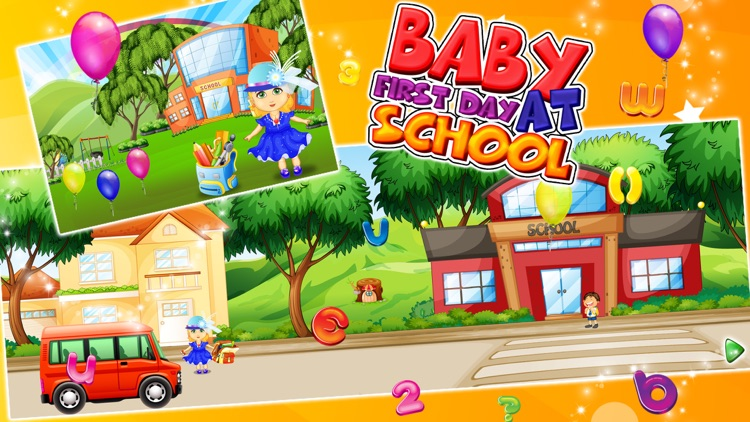 Baby First Day At School – kids learning & education game screenshot-4