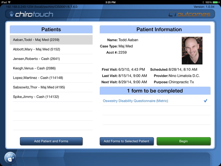 CT Outcomes Mobile 6.5